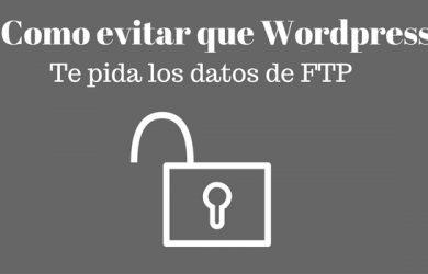 evitar wordpress pida datos conexion ftp