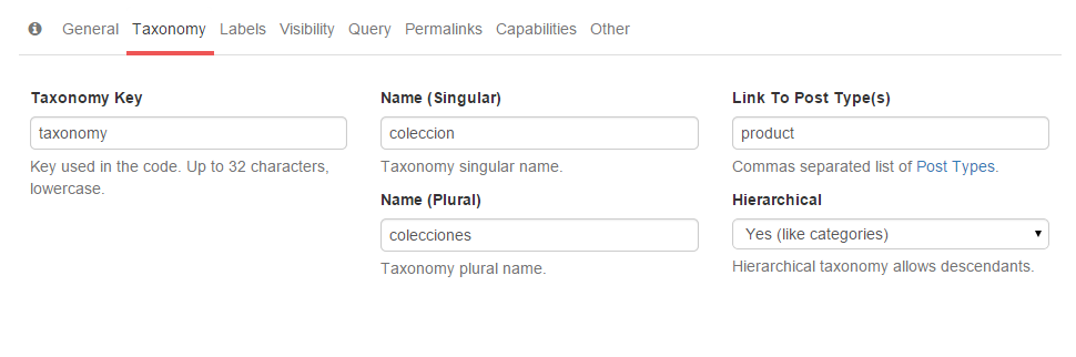 Crear taxonomias en wordpress