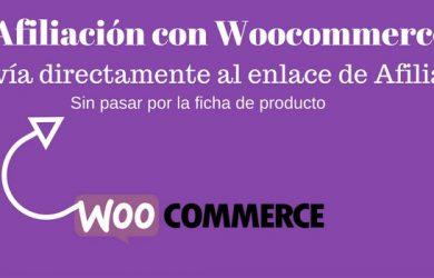 Enviar a link de afiliado directamente en Woocommerce